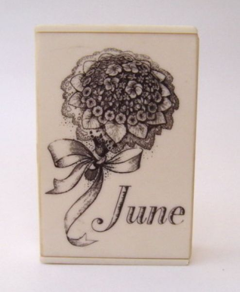 Saville June - bakelite perfume box