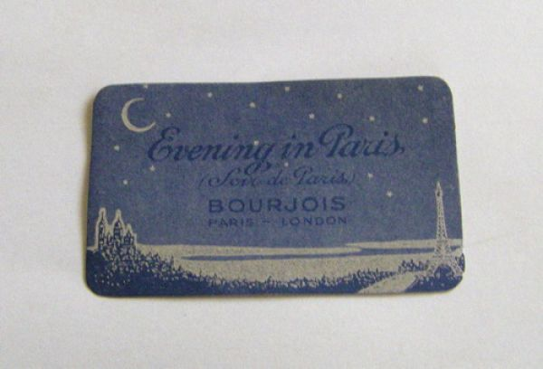 Evening in Paris perfume card