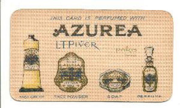 L T Piver - Azurea Perfume Card