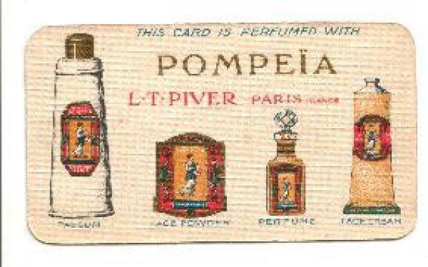 L T Piver - Pompeia Perfume Card