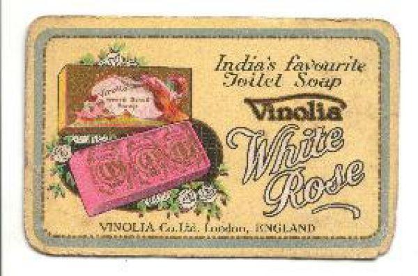 Vinolia - White Rose Toilet Soap Card