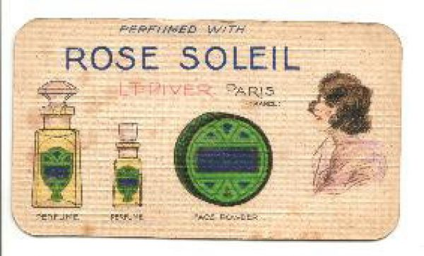 L T Piver - Rose Soleil Perfume Card