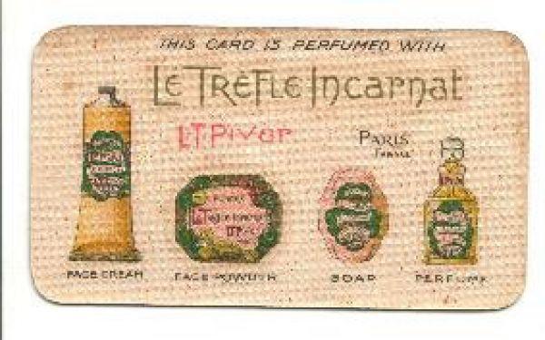 L T Piver - Le Trefle Incarnat Perfume Card
