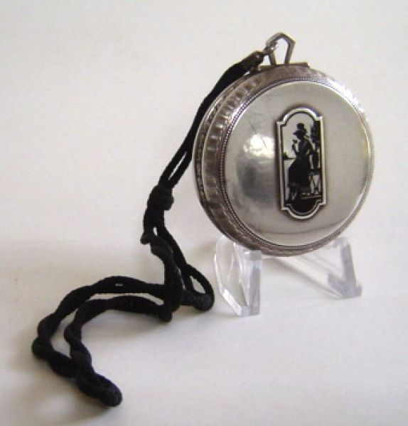 Silver Silhouette compact