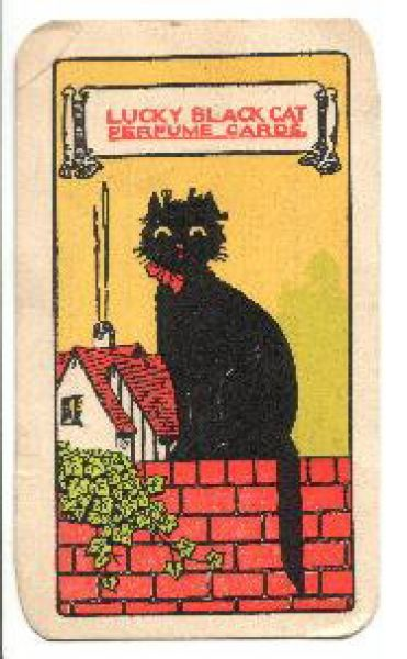 Lucky Black Cat Perfume Card