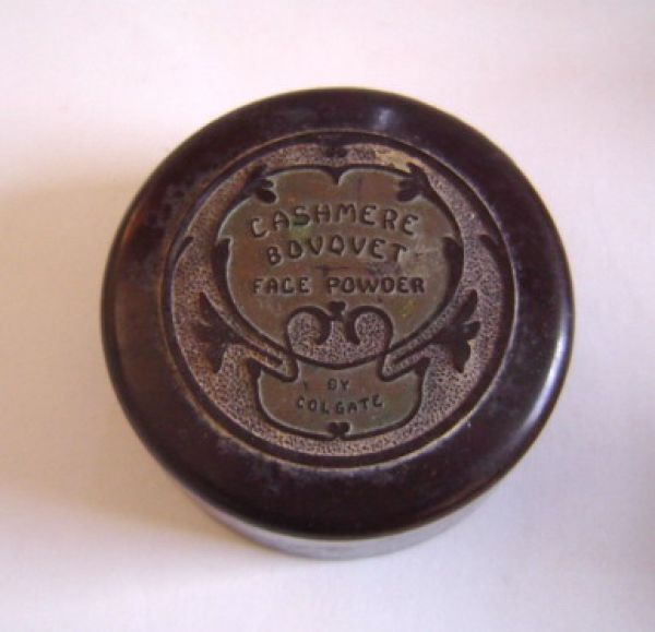 Colgate & Co - Cashmere Bouquet - Face Powder Bakelite container