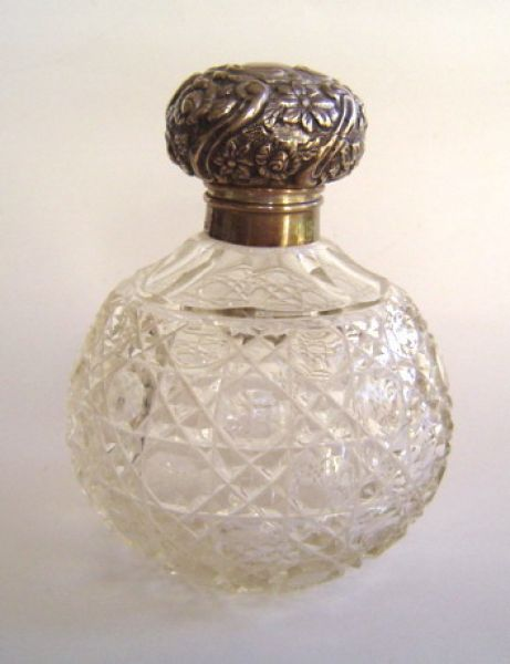 Large crystal cologne bottle