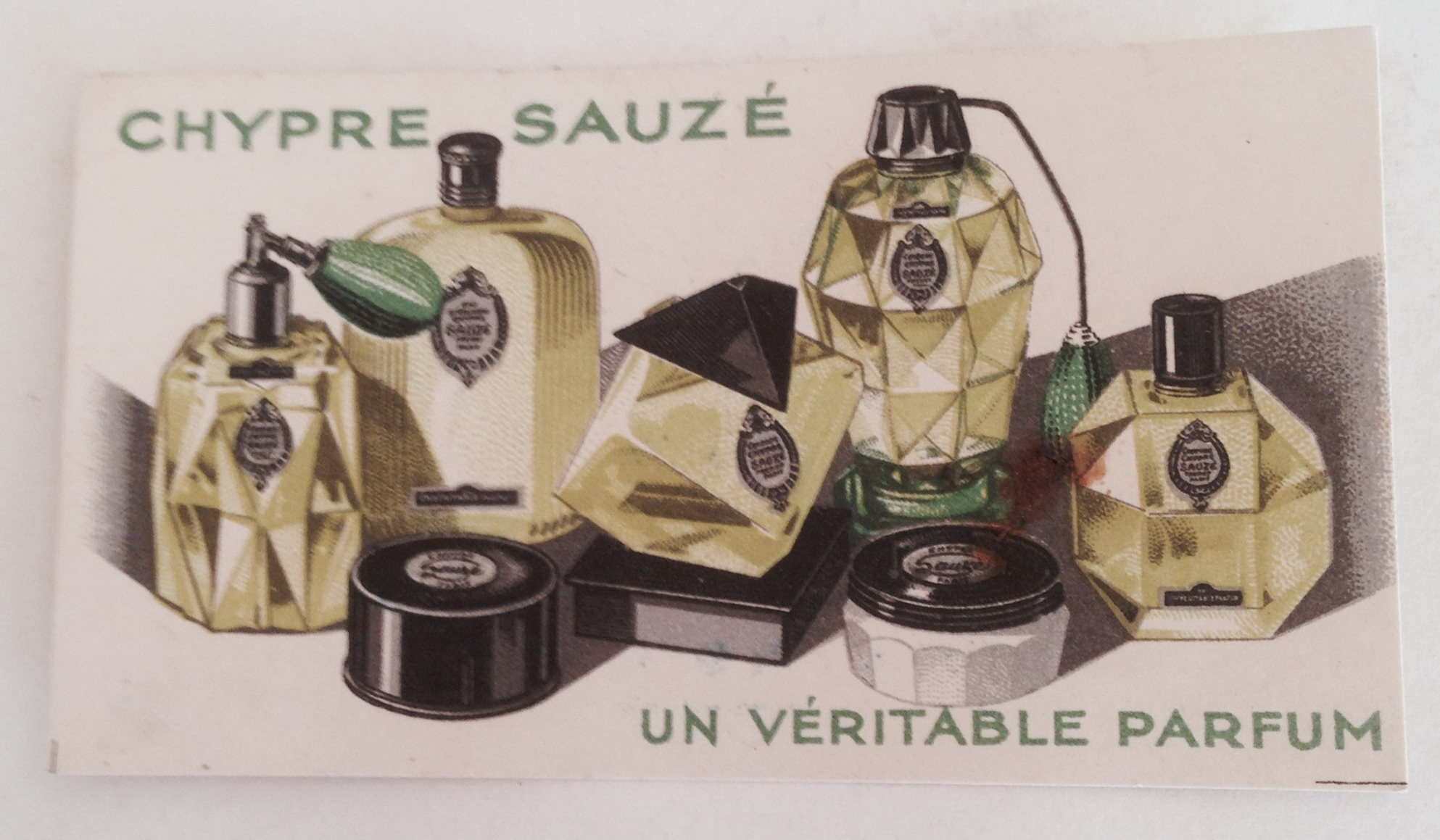 Suaze Perfume Card